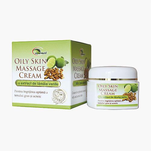Crema pentru ingrijirea optima a tenului gras si acneic cu extract de lamaie verde