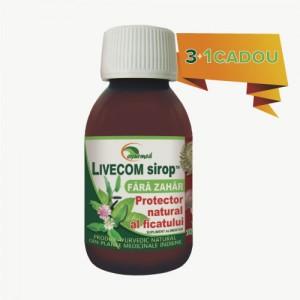 Livecom Sirop Fără Zahăr - Protector natural al ficatului