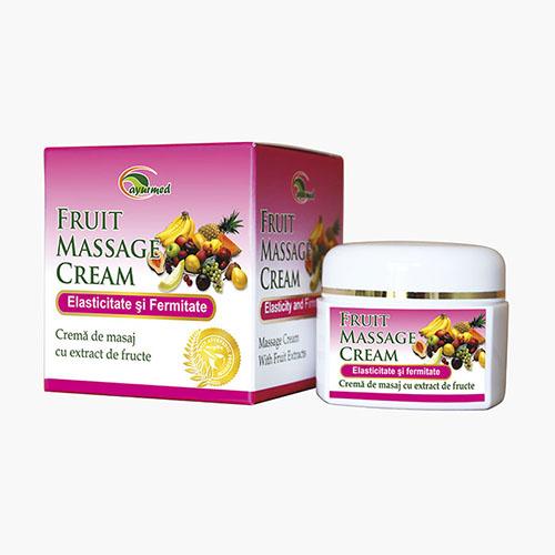 Crema de masaj cu extracte din fructe
